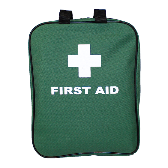 Green Softpack First Aid Bag – (Empty)