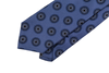R Culturi : Barroco Mandala 'Gum Twill' Silk Necktie - Midnight Blue/White