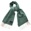 Attorie Herringbone Wool Scarf - Green
