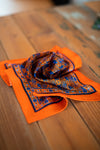 Olof 1982 - The Macclesfield Orange Silk Pocket Square