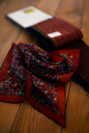 Olof 1982 - The Macclesfield Flower Pocket Square (Dark Red)