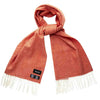 Attorie Herringbone Wool Scarf - Orange