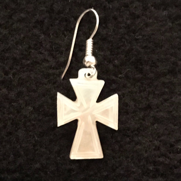 Mother of Pearl Cross Earrings JEA-2008