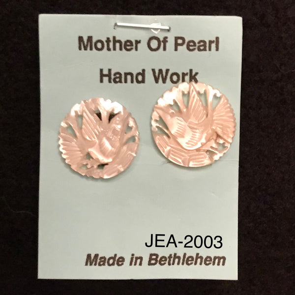 Mother of Pearl Dove Clip On Earrings JEA-2003
