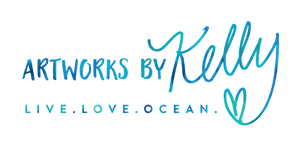 Artworks by Kelly - Live. Love. Ocean. - Colorful and Fun Beach Art for your home