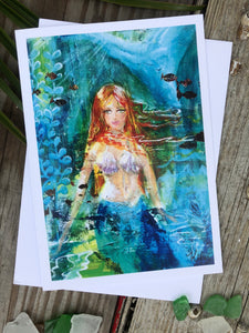 "Card ""Mermaid"""