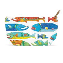 Timber Fish Print Accessory Pouch