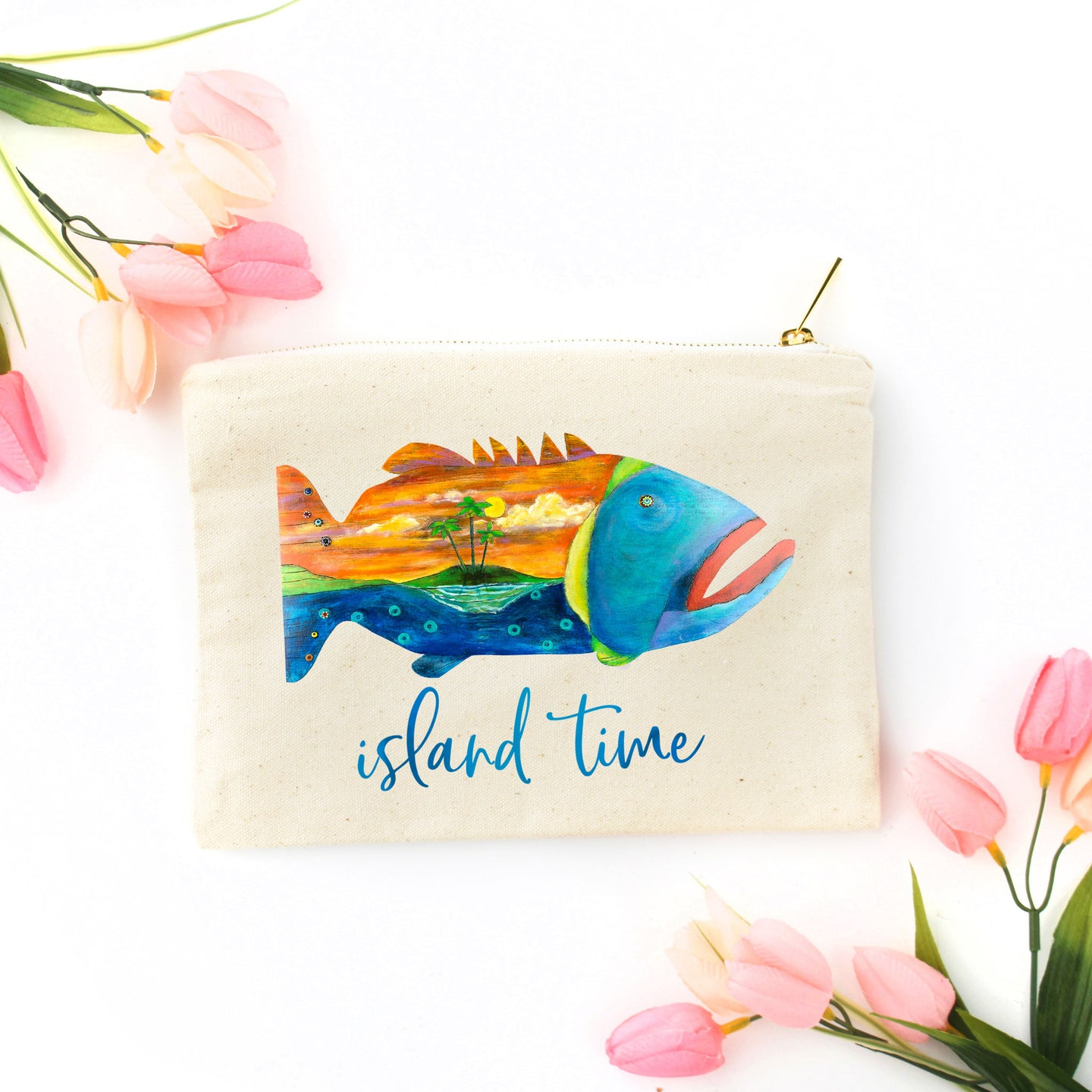 Island Time Cosmetic Bag