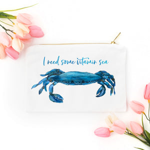 """I Need Some Vitamin Sea"" Cosmetic Bag"