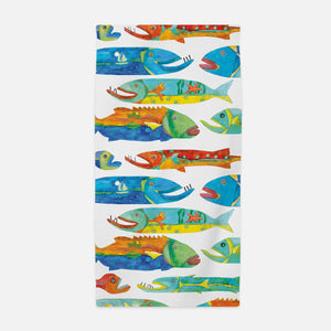 Timber Fish Print Beach Towel