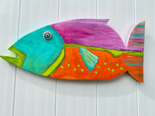 "Painted Wooden Angel Fish ""Madeline"""