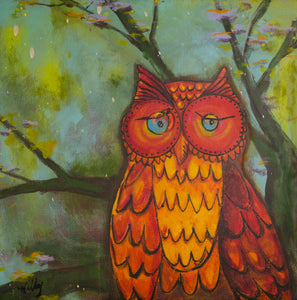 Clifford the Owl - *Limited Edition* - Giclee Print on Canvas