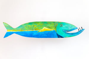 Townley painted wooden fish