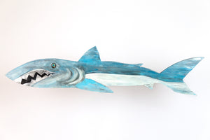 Mark the Shark painted wooden fish