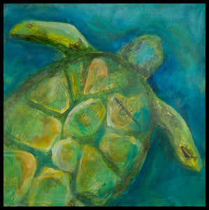 Sea Turtle - *Limited Edition* - Matted Print on Paper