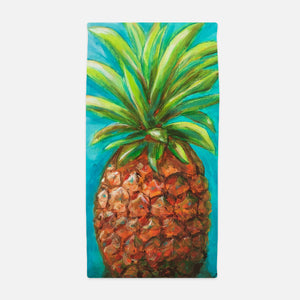 Pineapple Print Beach Towel