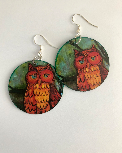 Clifford the Owl Earrings