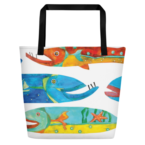 Timber Fish Beach Bag