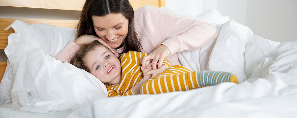 Mother and Child on a bed