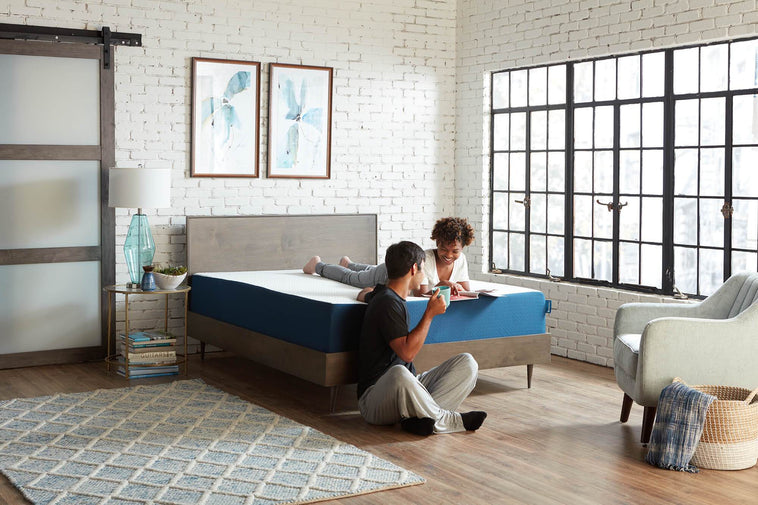 Couple laughing on Azul Mattress