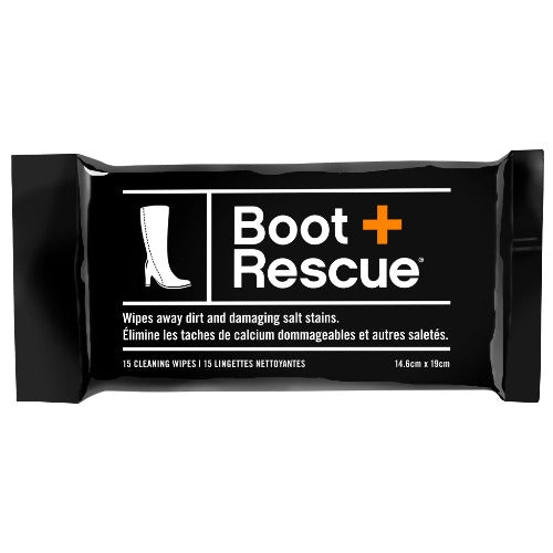 BootRescue All-Natural Boot Cleaning Wipes - Resealable Pack of 15