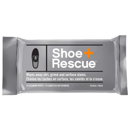 ShoeRescue All-Natural Cleaning Wipes, 15 Pack