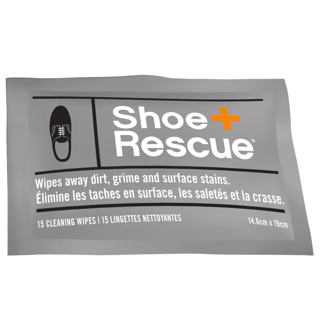 ShoeRescue All-Natural Shoe Cleaning Wipes - Box of 10 Individually Wrapped Wipes