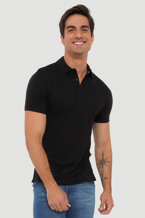 Playera  Polo Caballero MC / FASHION BLACK