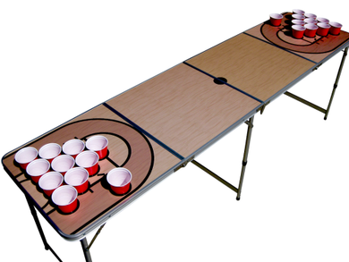 Basketball Beer Pong Table With Holes - Beer Pong Table