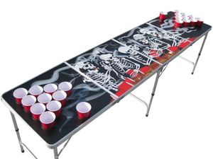 Bones Beer Pong Table with Holes