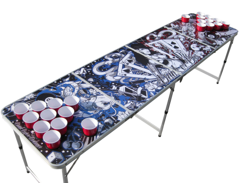 Tattoo Table Beer Pong Table With Holes