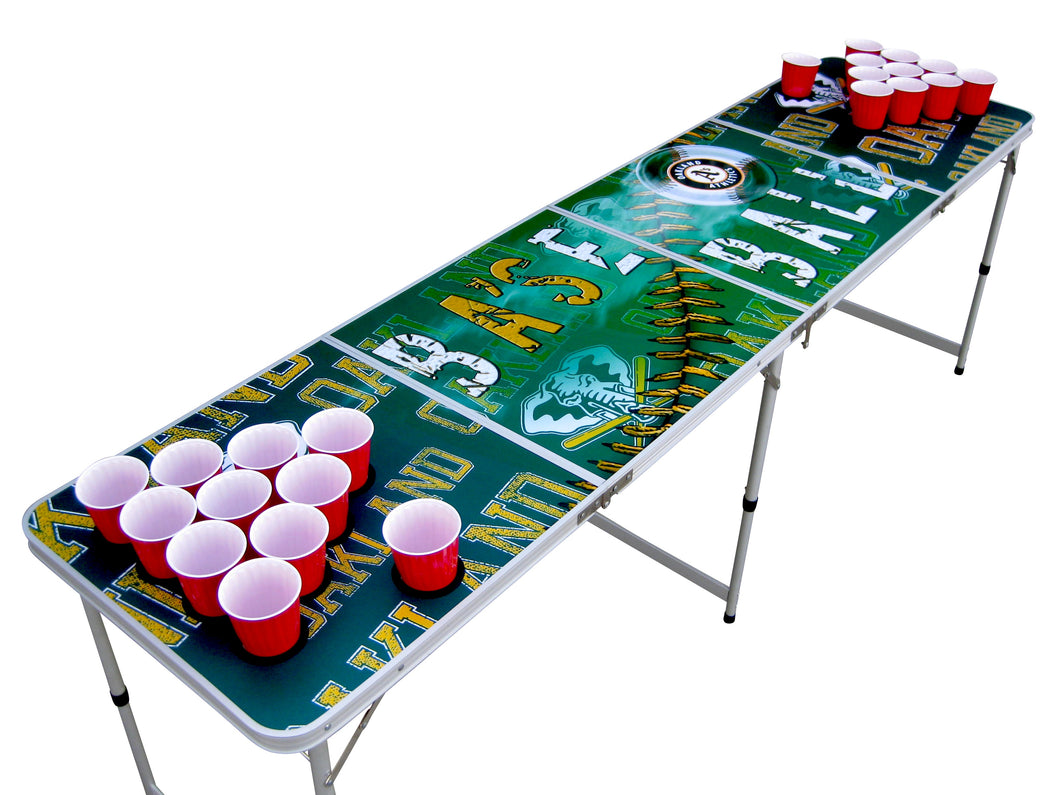 Oakland A's Athletics Beer Pong Table - Beer Pong Table