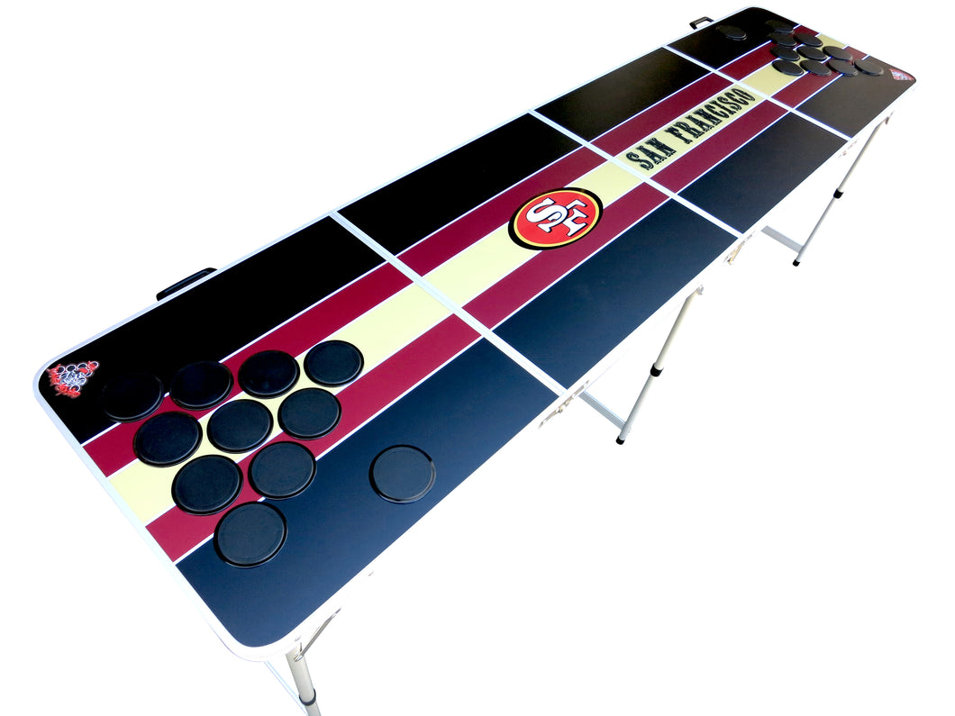 San Francisco 49ers Beer Pong Table New Style - Beer Pong Table