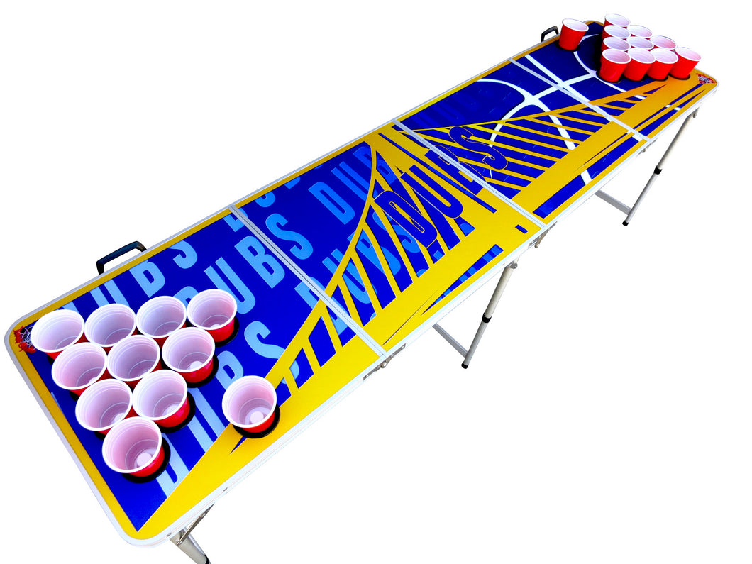 Golden State Warriors Dubs Beer Pong Table - Beer Pong Table