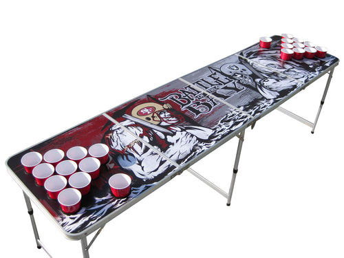 Battle of the Bay Beer Pong Table with Holes