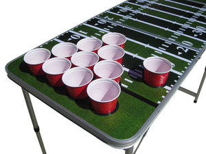 Football Beer Pong Table With Holes - Beer Pong Table