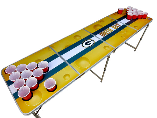 Green Bay Packers Beer Pong Table - Beer Pong Table