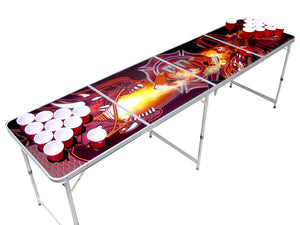 Firefighter vs Dragon Beer Pong Table - Beer Pong Table
