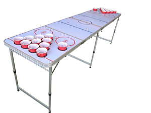 Hockey Beer Pong Table With Holes - Canada Only