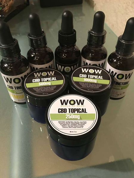 World of Weed CBD Tinctures and Topicals