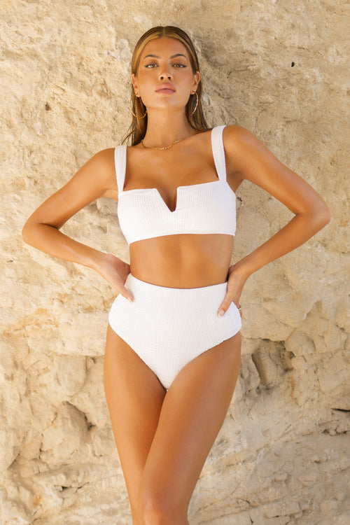Maupiti Top White Crinkle