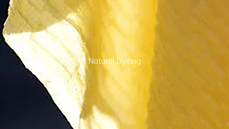 Learn more about the natural dyeing we use on our organic cotton products