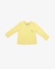 Yellow long-sleeved t-shirt made with organic cotton