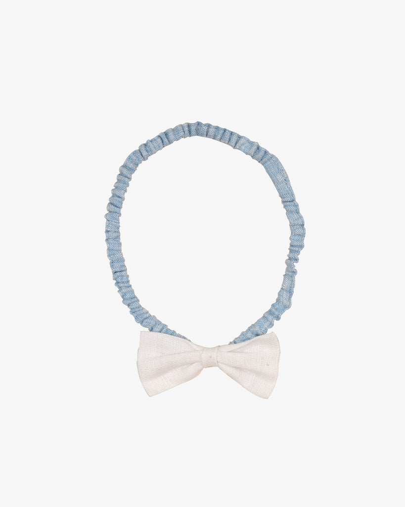 LINEN BOW HEAD BAND