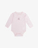 Pink - Embroidered Sailboat Bodysuit w/ Stripe Trims | Blara Organic House | Sustainable Baby Clothing
