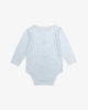 Blue - Embroidered Sailboat Bodysuit w/ Stripe Trims | Blara Organic House | Sustainable Baby Clothing