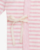 Pink Stripes - Kimono Style Bodysuit with Embroidery | Blara Organic House | Sustainable Baby Clothing