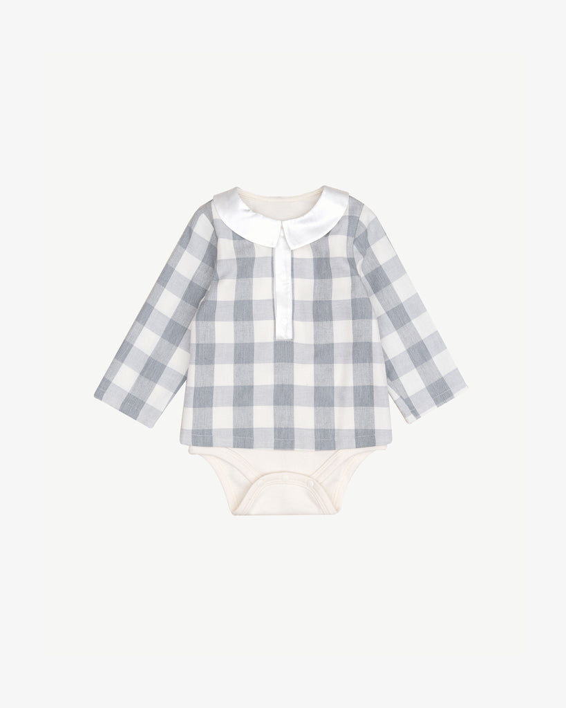 CHECKER BOY BODYSUIT