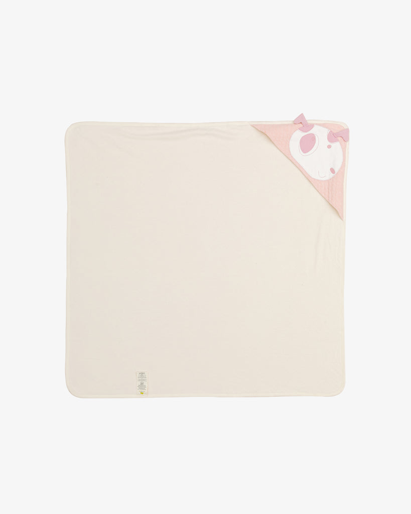 Pink - Doggie Reversible Blanket with Embroidery | Blara Organic House | Sustainable Baby Accessories