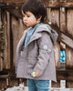 BOY'S BADGE COTTON TRENCH COAT